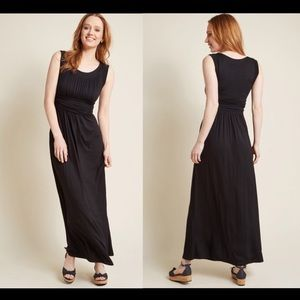 """First Classic"" Maxi Dress in Black"